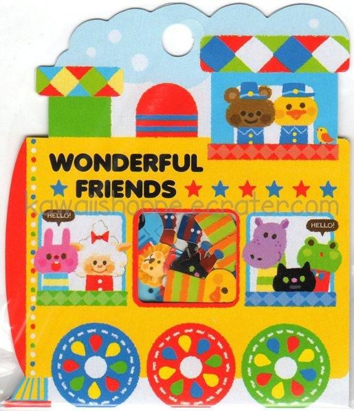 Kamio Japan Wonderful Friends Sticker Flake Sack - Stickers Flakes Sacks Kawaii