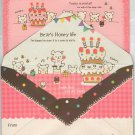 Mindwave Bear&#39;s Honey Life Letter Set Kawaii Desserts bear bears