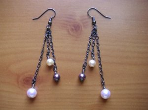 Elegant Swarovski Pearls in Cream, Pale Pink and Purple