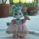 Hideaway Hollow Mommy Bunny - Gray with Gray Cheeks in Pink Fabric Skirt