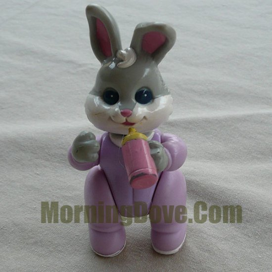 Fisher Price Hideaway Hollow rBaby Girl Bunny - Gray with White Cheeks in Purple