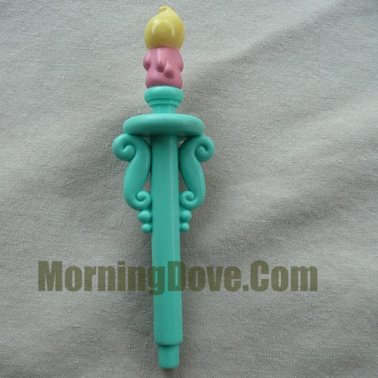 Fisher Price Hideway Hollow Loving Family Candlestick Holder Candle Stick and Candle