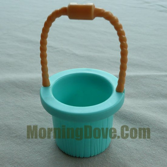 Fisher Price Hideaway Hollow Green Bucket or Pail with Tan Handle