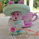 Tea Bunnies and Me Carnation Mint  Sweet Slumber Tea Party and her Cozy Posy Sweet Shoppe Tea Cup