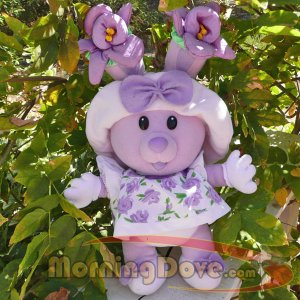 """Tea Bunnies and Me HUGS N FLOWERS Candy Violet 14"""" Plush Doll"""