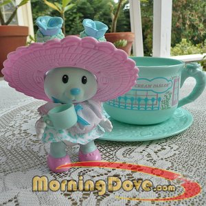 Tea Bunnies and me Pansy Parfait and her Not Only Sundaes Ice Cream Parlor Tea Cup