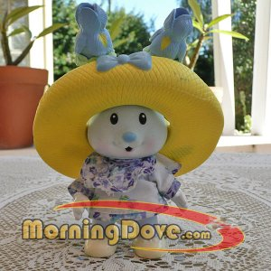 Tea Bunnies and Me Iris Bouquet - Bunny, Hat and Dress
