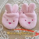 Pink Fleece Bunny Slippers for Baby Girl Size 0-6 Months