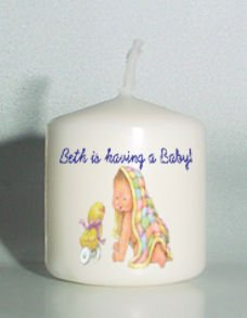 6 Custom Baby Shower Favors Votive Candles Personalized