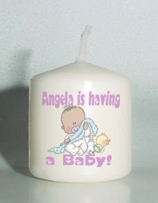 6 Custom Baby Shower Favors Votive Candles African American baby Personalized