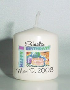 6 Birthday Votive Candles Custom Favors or Add to Gift baskets Personalized
