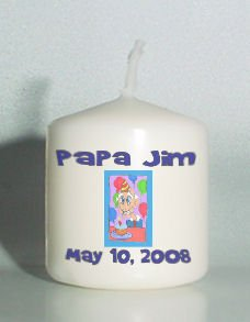6 Old Man Birthday Votive Candles Custom Favors or Add to Gift baskets Personalized