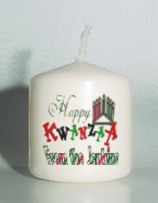 set of 6 Holiday Kwanza Votive Candles Custom Favors or Add to Gift baskets Personalized