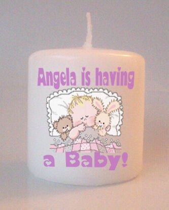 Little Baby Shower Gift Small Pillar Candles Custom Favors or Add to Gift baskets Personalized