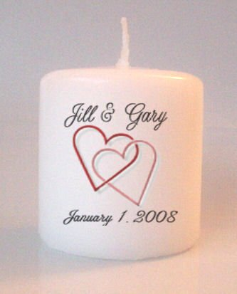 Wedding Bridal Shower Small Pillar Candles Custom Favors Add to Gift baskets Personalized