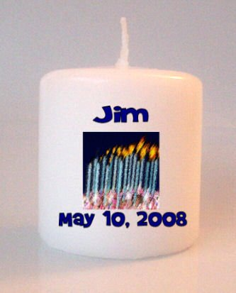 Birthday Candles Small Pillar Candles Custom Favors Add to Gift baskets Personalized