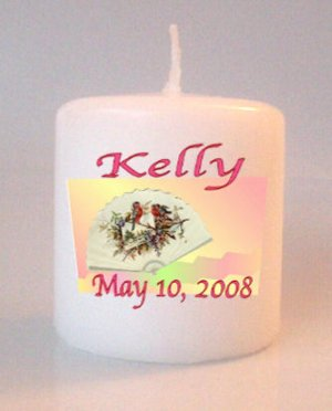 Birthday Small Pillar Candles Custom Favors Add to Gift baskets Personalized