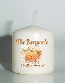 set of 6 Halloween Pumpkin Votive Candles Custom Favors or Add to Gift baskets Personalized