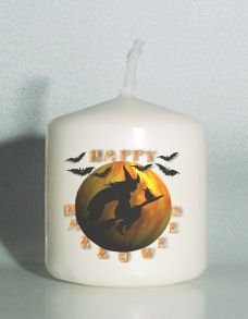 set of 6 Halloween Witch Votive Candles Custom Favors or Add to Gift baskets Personalized