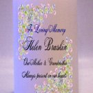 MEMORIAL Pastel Wild Flowers 6 inch Pillar Candles Custom Personalized
