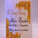 MEMORIAL Fall Leaves 6 inch Pillar Candles Custom Personalized
