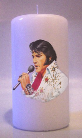 ELVIS PRESLEY 6 inch Pillar Candles Collectable Home Decor