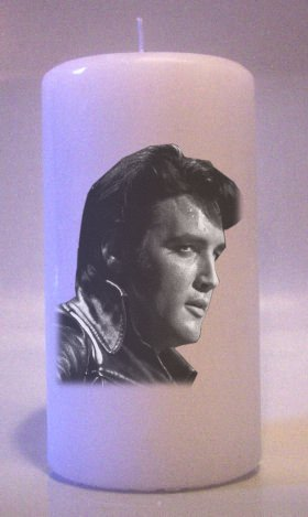 ELVIS PRESLEY  BW 6 inch Pillar Candles Collectable Home Decor