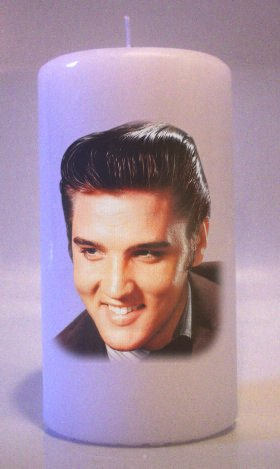 Young ELVIS PRESLEY 6 inch Pillar Candles Collectable Home Decor