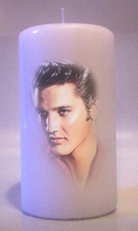 ELVIS PRESLEY The King 6 inch Pillar Candles Collectable Home Decor
