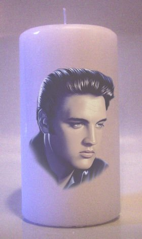 ELVIS PRESLEY Collectable Pillar Candles 6 inch  Home Decor