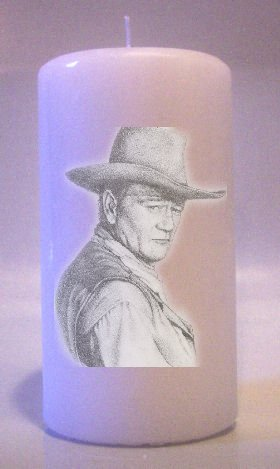 JOHN WAYNE 6 inch Pillar Candles Collectable Home Decor