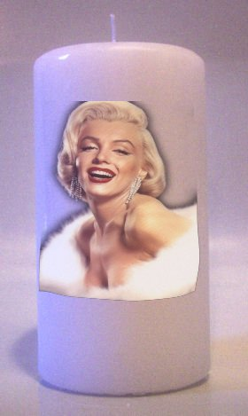 Collectable MARILYN MONROE 6 inch Pillar Candles Home Decor