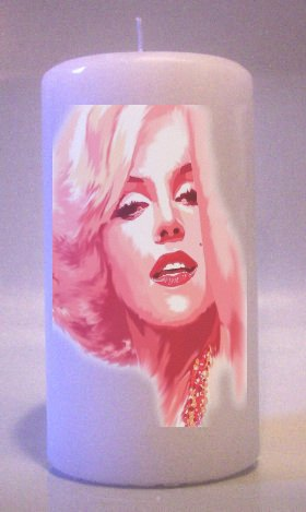 Collectable Pillar Candles MARILYN MONROE 6 inch Home Decor