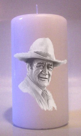 Candles JOHN WAYNE 6 inch Pillar  Collectable Home Decor