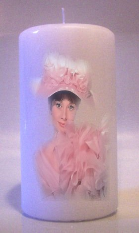 AUDREY HEPBURN 6 inch Pillar Candles Collectable Home Decor