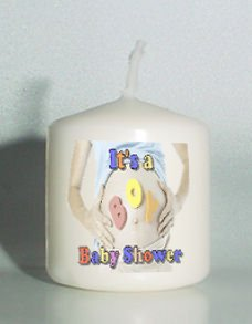 6 It's a Boy Baby Shower Custom Favors Votive Candles