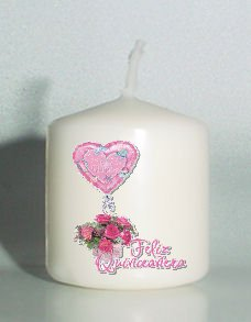 6  Quinceanera Custom Birthday Favors Votive Candles #2