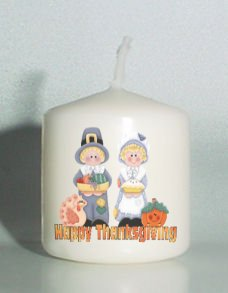 set of 6 THANKSGIVING Votive Candles Custom Favors or Add to Gift baskets Personalized