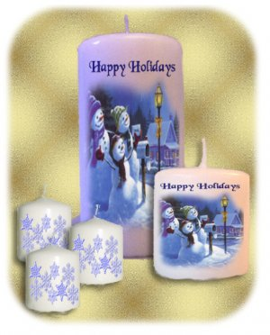 HOLIDAY Candle 5 Piece SET Candles Centerpiece or Add to Gift baskets