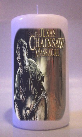 TEXAS CHAINSAW MASSACRE Collectable 6 inch Pillar Candles Home Decor