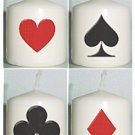 4 Casino Night or Card Party Birthday Custom Favors Votive Candles or Add to Gift baskets