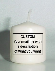 Your Logo or Artwork Small 3 inch Pillar Candles Custom Favors Add to Gift baskets Personalized