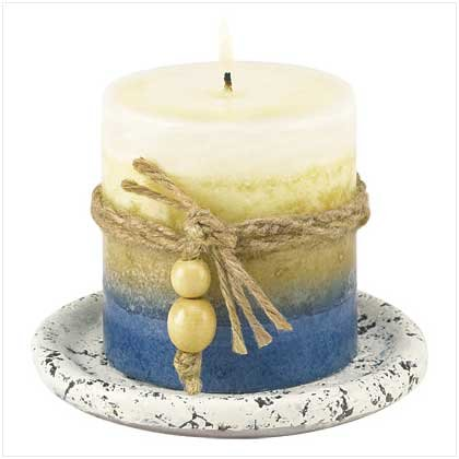 Earth-Tone Candle