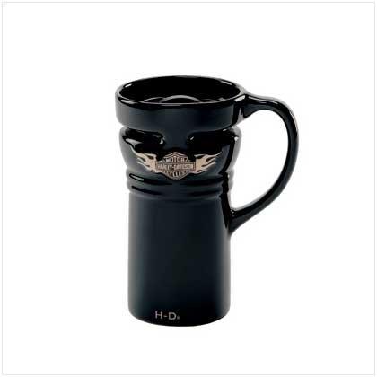 Harley Davidson Ba and Shield Travel Mug
