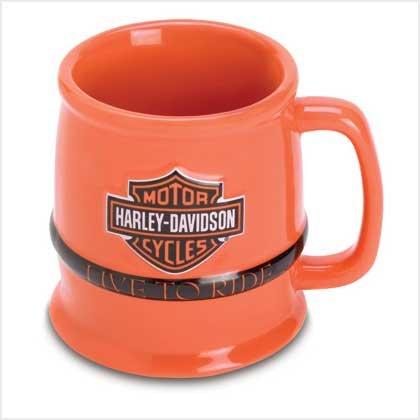 """Harley """"Live To Ride"""" Barel Mug"""