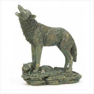 37574 Antique Bronze Finish Wolf