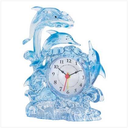 38935 Dolphin Fantasy Clock