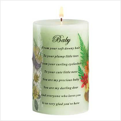 38886 Baby Pressed Flower Candle