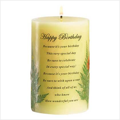 38887 Happy Birthday Candle