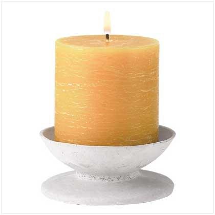 39236 Rustic Pedestal Candle Set